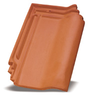 natural red roof tile